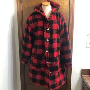 Wild Fable Lumberjack Red Plaid Coat Jacket Medium